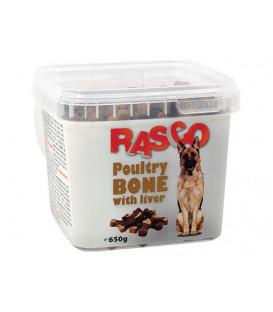 Pochoutka RASCO Dog kosti drůbeží s játry 650g