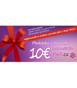 Poukázka v hodnotě 10€