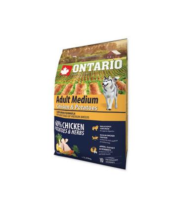 ONTARIO Dog Adult Medium Chicken & Potatoes & Herbs 2,25kg