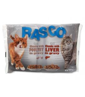 Kapsičky RASCO Cat s drůbežím/ s játry multipack 400g