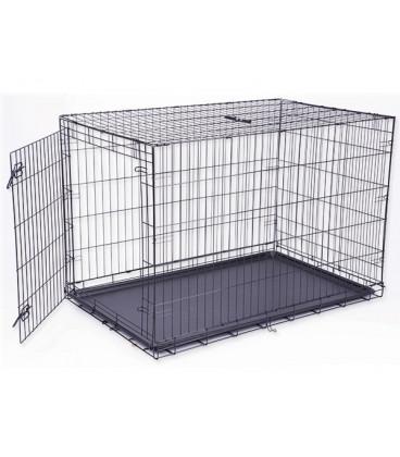 Klec DOG FANTASY skládací černá XXL