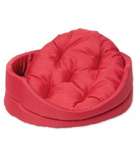 Pelíšek DOG FANTASY ovál s polštářem červený 60 cm