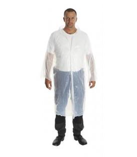 Plášť igelitový KRUTEX jednorázový bílý