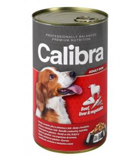 Calibra KONZERVA dog Adult Hovězí maso&játra&zelenina 1240 g