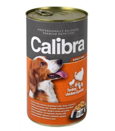 Calibra KONZERVA dog Adult Krůta&kuře&těstoviny 1240 g
