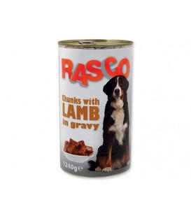 Konzerva RASCO Dog jehněčí kousky ve šťávě 1240g