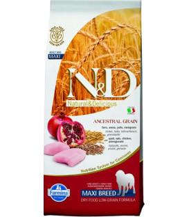 Farmina N&D dog LG adult maxi chicken&pomegranate 12 kg