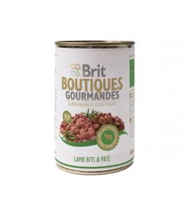 Konzerva BRIT Dog Boutiques Gourmandes Lamb Bits & Paté 400g