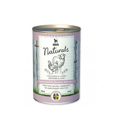 Konzerva BOZITA Dog Naturals Chicken & Lamb 410g