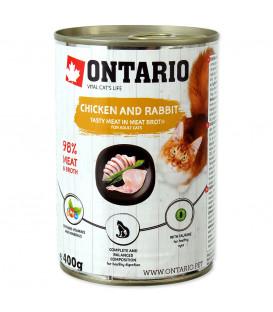 Konzerva ONTARIO Cat Chicken, Rabbit, Salmon Oil 400g